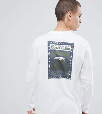 The North Face Exclusive to ASOS Long Sleeve North Faces T-Shirt in White