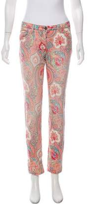Etro Printed Mid-Rise Jeans