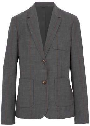 Brunello Cucinelli Striped Wool-Blend Blazer
