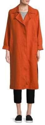 Eileen Fisher Open Front Trench Coat