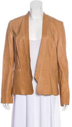 Haute Hippie Leather Open Front Jacket