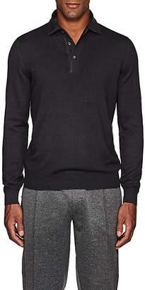 Barneys New York Men's Wool Polo Sweater - Gray