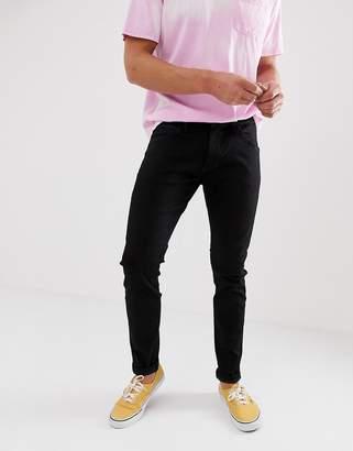 Wrangler bryson skinny fit jeans in black valley rinse wash