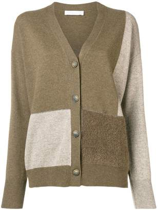 Fabiana Filippi colour block knit cardigan