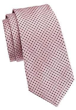 Emporio Armani Men's Micro Dot Silk Tie