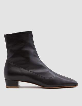 By Far Shoes Este Leather Ankle Boot in Black