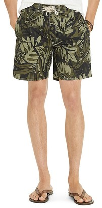 Polo Ralph Lauren Palm Print Island Swim Trunks $85 thestylecure.com