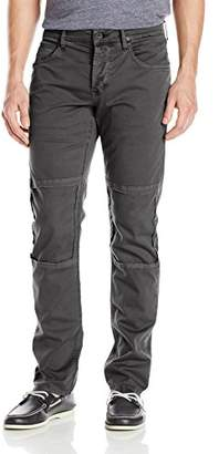 Hudson Men's Damian Slim Straight Leg Twill Pant with Biker Knee Patch