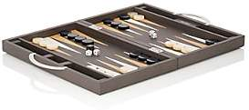 Barneys New York Leather Backgammon Set-Gray