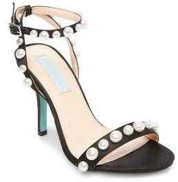 Betsey Johnson Sydne Embellished Satin Sandals