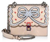 FendiFendi Kan I Mini Studded Leather Chain Shoulder Bag