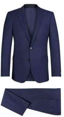 BOSS Hugo Italian Wool Suit, Slim Fit Huge/Genius 44L Dark Blue