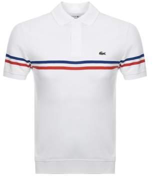 bf6d8617 Lacoste Short Sleeved Stripe Polo T Shirt White