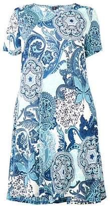 179c160f00 Izabel London Curve Printed Skater Dress