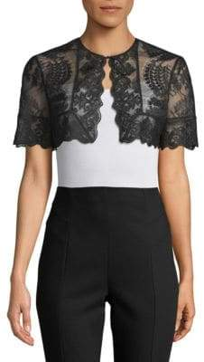 J. Mendel Scalloped Lace Bolero
