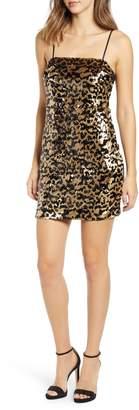 Rowa Row A Leopard Sequin Dress