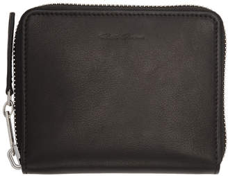 Rick Owens Black Small Zipped Wallet