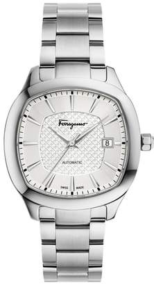 Salvatore Ferragamo Square Automatic Bracelet Watch, 41mm