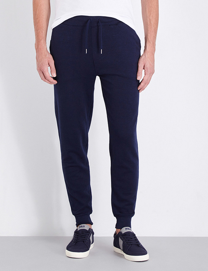 POLO RALPH LAUREN Mid-rise cotton-jersey jogging bottoms