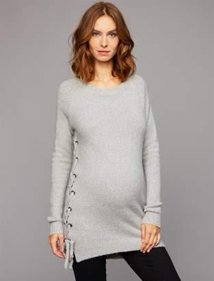 John & Jenn Pea Collection John + Jenn Lace Up Maternity Sweater