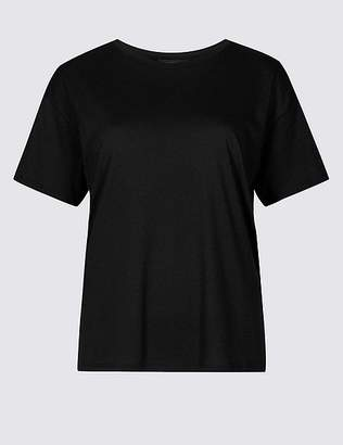 Marks and Spencer Cotton Blend Round Neck Short Sleeve T-Shirt