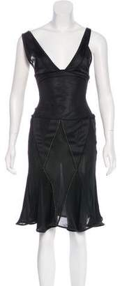 Just Cavalli Flounce Midi Dress