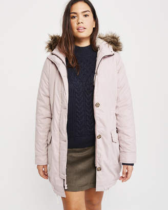 Abercrombie & Fitch Sherpa Military Parka