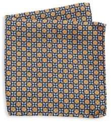 Saks Fifth Avenue COLLECTION Floral Medallion Silk Pocket Square