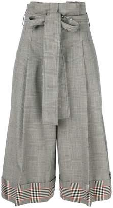 Alexander McQueen houndstooth cropped trousers