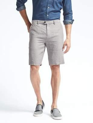 Banana Republic Aiden Slim Stripe Linen Short