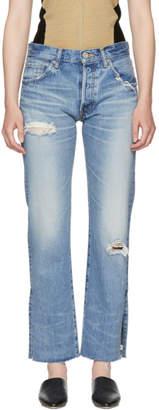 Moussy Vintage Blue Alva Straight Jeans