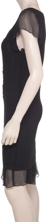Max Studio Lace Dress With Crinkle Chiffon