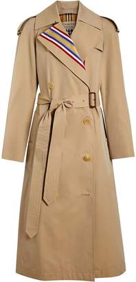 Burberry Collegiate Stripe Cotton Gabardine Trench Coat