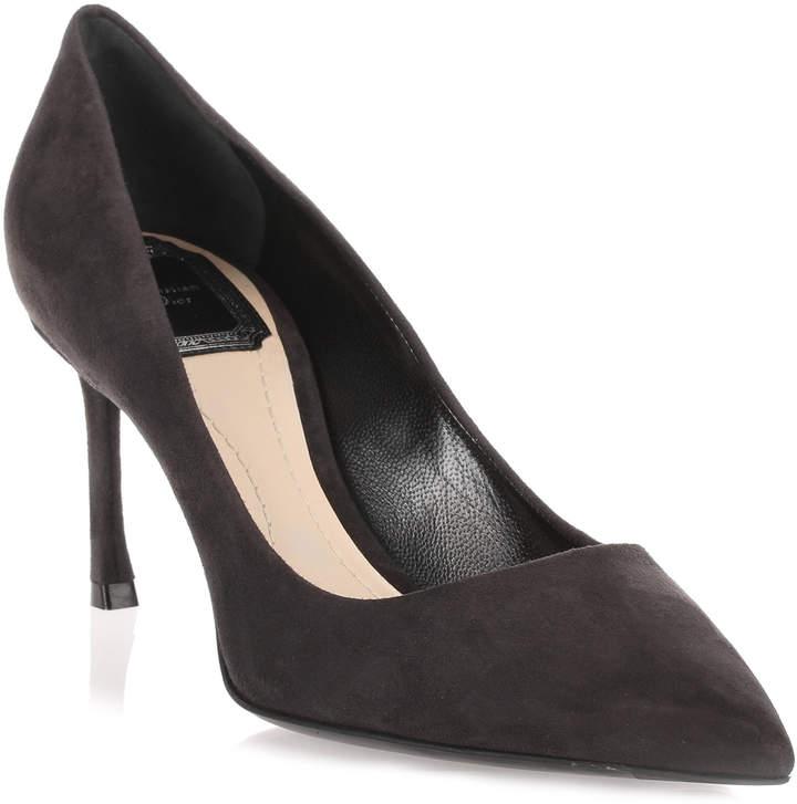 Dior Essence 70 grey suede pump