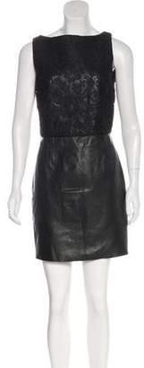 Saint Laurent Lace & Leather Dress