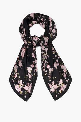 Genuine People Silk Floral Scarf