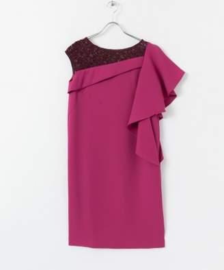 Rosso (ロッソ) - ROSSO アシメフリルショルダーレースドレス