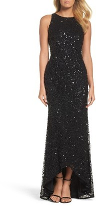 Women's Adrianna Papell Sequin High/low Gown $289 thestylecure.com