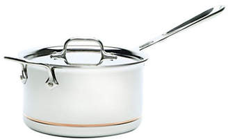 All-Clad 4 Quart Sauce Pan With Lid Copper-Core