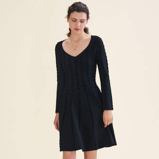 Maje Knitted dress with embroidery