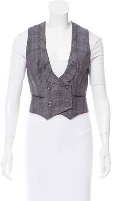 Alexander McQueen Plaid Wool Vest