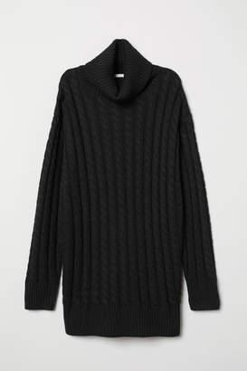 H&M Cable-knit Turtleneck Sweater - Black