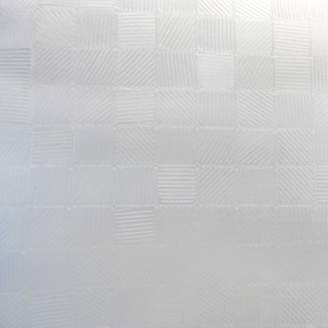 clear Excell Simple Square Embossed PEVA Shower Curtain Liner,