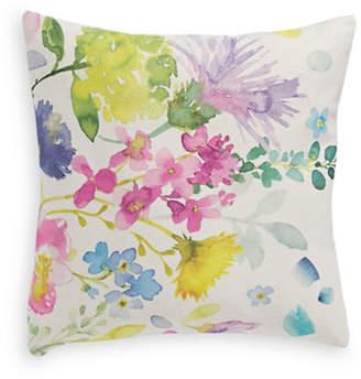 BLUEBELLGRAY Watercolour Flowers Linen Cushion