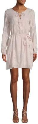 Gold Hawk Women's Burnout Floral Mini Dress