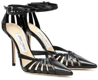 Jimmy Choo Travis 100 leather pumps