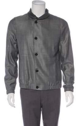 Giorgio Armani Wool & Silk Button-Up Jacket
