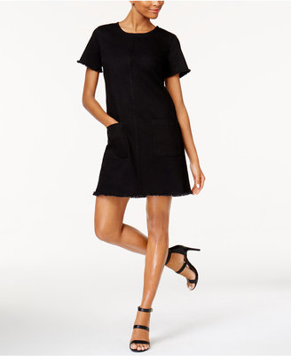 Two by Vince Camuto Frayed-Trim Shift Dress $119 thestylecure.com