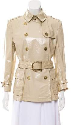 Burberry Double-Breasted Short Trench Coat