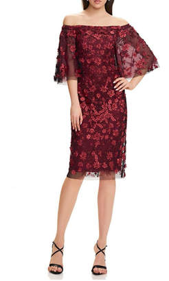 Theia Floral Cocktail Dress